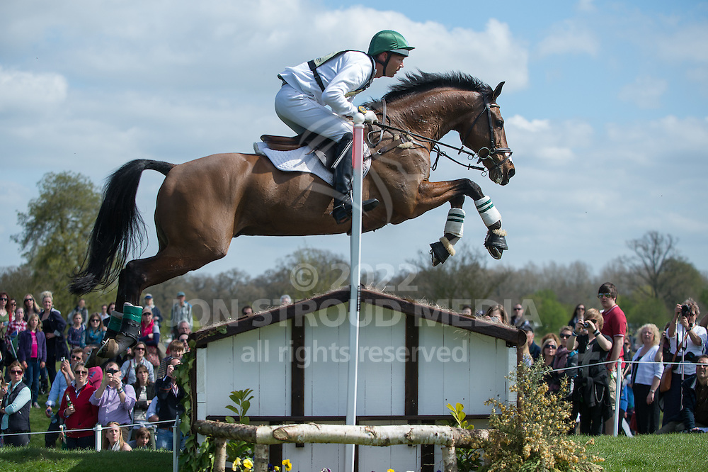 Clark Montgomery (USA) & Universe - Fence 23, 24, 25, PHEV VIllage -  XC - Mitsubishi Motors Badminton Horse Trials - CCI4* - Badminton, Gloucestershire, United Kingdom - 05 May 2013