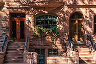 Brownstone townhouses on the upper westside