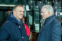DEVENTER - 13-01-2017, Go Ahead Eagles - AZ,  Stadion Adelaarshorst, AZ trainer John van den Brom, GA Eagles-trainer Hans de Koning