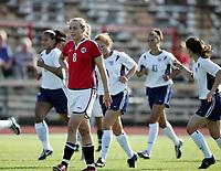 Fotball, 26. juli 2005, U21 damer, Åpent nordisk mesterskap, finale, Norge- USA 1-4,   Anneli Giske, Norge etter scoring av USA