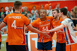 09-06-2019 NED: Golden League Netherlands - Spain, Koog aan de Zaan<br /> Fourth match poule B - The Dutch beat Spain again in five sets in the European Golden League / Nimir Abdelaziz #14 of Netherlands, Gijs Jorna #7 of Netherlands