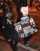 Animal rights activitists and participants of the All Souls Procession honor deceased animals in Tucson, Arizona, USA.