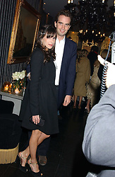 FRITZ VON WESTENHOLZ and CAROLINE SIEBER at a party to celebrate the publication of Tatler's Little Black Book 2005 held at the Baglioni Hotel, 60 Hyde Park Gate, London SW7 on 9th November 2005.<br />