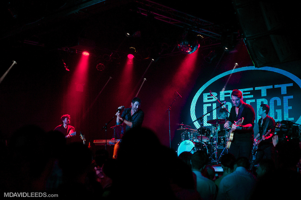 """Brett Eldredge performs during his """"Bring You Back"""" album release party at the Highline Ballroom on August 6, 2013 in New York City, New York.  Mandatory Credit:  Photo by MDAVIDLEEDS"""