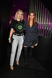 Left To Right, Ashley James and Laura Pradelska at the STK Ibiza themed brunch party at STK London, London, England. 7 May 2017.<br /> Photo by Dominic O'Neill/SilverHub 0203 174 1069 sales@silverhubmedia.com