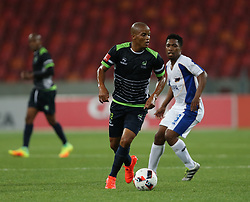 Solomon Mathe of Platinum Stars during the 2016 Premier Soccer League match between Chippa United and Platinum Stars held at the Nelson Mandela Bay Stadium in Port Elizabeth, South Africa on the 28th October 2016<br />
