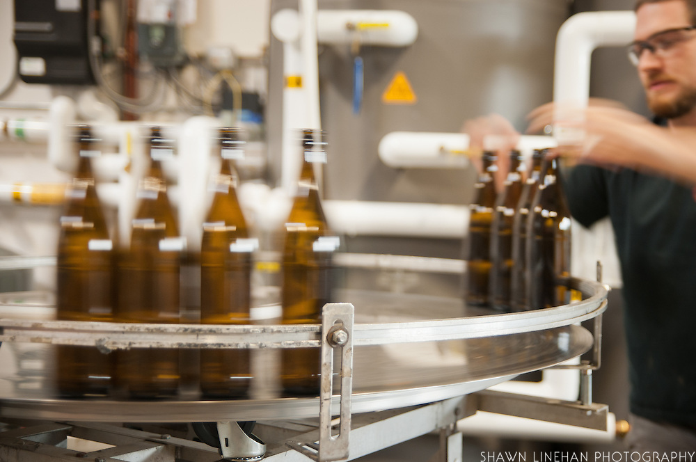The bottling plant of  Wandering Aengus Cidery in Salem, Oregon.