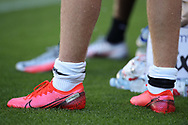Parma Calcio's Swedish midfielder Dejan Kulusevski's football boots during the Serie A match at Stadio Grande Torino, Turin. Picture date: 20th June 2020. Picture credit should read: Jonathan Moscrop/Sportimage