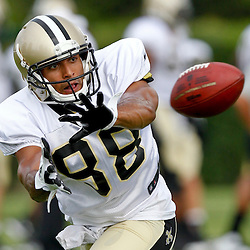 July 28, 2012; Metairie, LA, USA; New Orleans Saints rookie wide receiver Nick Toon (88) during a training camp practice at the team's practice facility. Mandatory Credit: Derick E. Hingle-US PRESSWIRE