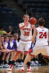 Milwaukee - February 8: This image was made during the 2010-2011 Prep Series game between New Berlin Eisenhower and Wilmot on February 8, 2011 at the Bradley Center in Milwaukee, Wisconsin.