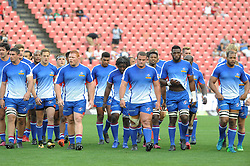 070418 Emirates Airlines Park, Ellis Park, Johannesburg, South Africa. Super Rugby. Lions vs Stormers. The Stormers team in their warm-up kit.<br />Picture: Karen Sandison/African News Agency (ANA)