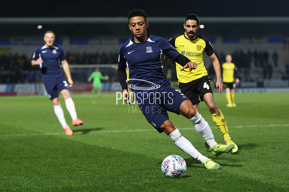 Nathan Ralph in action during the EFL Sky Bet League 1 match between Burton Albion and Southend United at the Pirelli Stadium, Burton upon Trent, England on 3 December 2019.