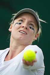 LONDON, ENGLAND - Wednesday, June 22, 2011: Bethanie Mattek-Sands (USA) in action during the Ladies' Singles 1st Round match on day three of the Wimbledon Lawn Tennis Championships at the All England Lawn Tennis and Croquet Club. (Pic by David Rawcliffe/Propaganda)