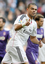 10.01.2015, Estadio Santiago Bernabeu, Madrid, ESP, Primera Division, Real Madrid vs Espanyol Barcelona, 18. Runde, im Bild Real Madrid's Pepe // during the Spanish Primera Division 18th round match between Real Madrid CF and Espanyol Barcelona at the Estadio Santiago Bernabeu in Madrid, Spain on 2015/01/10. EXPA Pictures &copy; 2015, PhotoCredit: EXPA/ Alterphotos/ Acero<br /> <br /> *****ATTENTION - OUT of ESP, SUI*****
