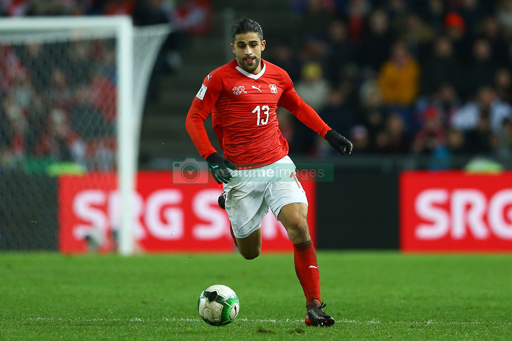 November 12, 2017 - Basel, Switzerland - Ricardo Rodriguez of Switzerland  during the FIFA 2018 World Cup Qualifier Play-Off: Second Leg between Switzerland and Northern Ireland at St. Jakob-Park on November 12, 2017 in Basel, Basel-Stadt. (Credit Image: © Matteo Ciambelli/NurPhoto via ZUMA Press)
