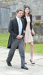 JAMES & PRINCESS FLORENCE TOLLEMACHE at the wedding of the Hon.Alexandra Knatchbull to Thomas Hooper held at Romsey Abbey, Romsey, Hampshire on 25th June 2016