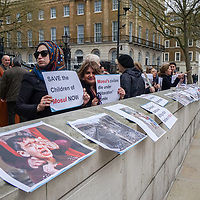 Iraqis protest against the bombing of Mosul,London,UK