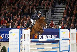 Keunen Pieter (NED) - Don Diablo<br /> KWPN Stallion Selection - 's Hertogenbosch 2014<br /> © Dirk Caremans