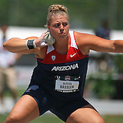 HASSLEN - 13USA, Des Moines, Ia. - Alyssa Hasslen finished third in the shot put.  Photo by David Peterson