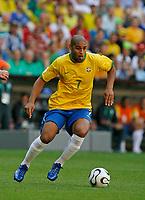 Photo: Glyn Thomas.<br />Brazil v Australia. Group F, FIFA World Cup 2006. 18/06/2006.<br /> Brazil's Adriano.