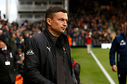 Barnsley manager Paul Heckingbottom during the EFL Sky Bet Championship match between Fulham and Barnsley at Craven Cottage, London, England on 23 December 2017. Photo by Andy Walter.