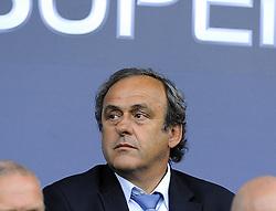 Michel Platini - Photo mandatory by-line: Joe Meredith/JMP - Mobile: 07966 386802 12/08/2014 - SPORT - FOOTBALL - Cardiff - Cardiff City Stadium - Real Madrid v Sevilla - UEFA Super Cup