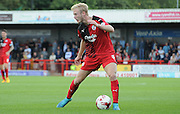 Christian Scales looks for options during the Sky Bet League 2 match between Crawley Town and Yeovil Town at the Checkatrade.com Stadium, Crawley, England on 19 September 2015. Photo by Michael Hulf.