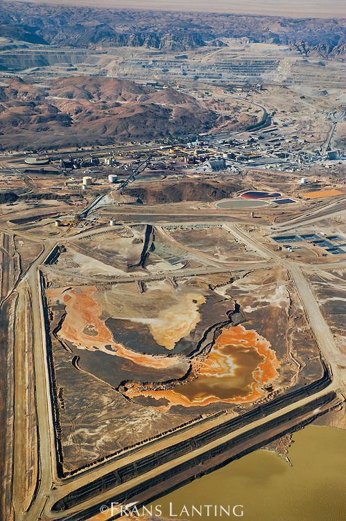 Rossing uranium mine near Swakopmund (aerial), Namibia