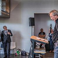 Nederland, amsterdam, 4 oktober 2016.<br /> Afscheidsreceptie directeur Stadgenoot Gerard Anderiesen.<br /> Bestuurder Gerard Anderiesen (62) treedt per 1 oktober 2016 af als bestuurder bij woningcorporatie Stadgenoot in Amsterdam. Hij blijft tot 1 januari 2017 in dienst om zijn taken over te dragen. Stadgenoot gaat verder onder eenhoofdige leiding. Zijn taken worden verdeeld over de huidige bestuursvoorzitter Marien de Langen en de vier directeuren.<br /> <br /> <br /> Foto: Jean-Pierre Jans