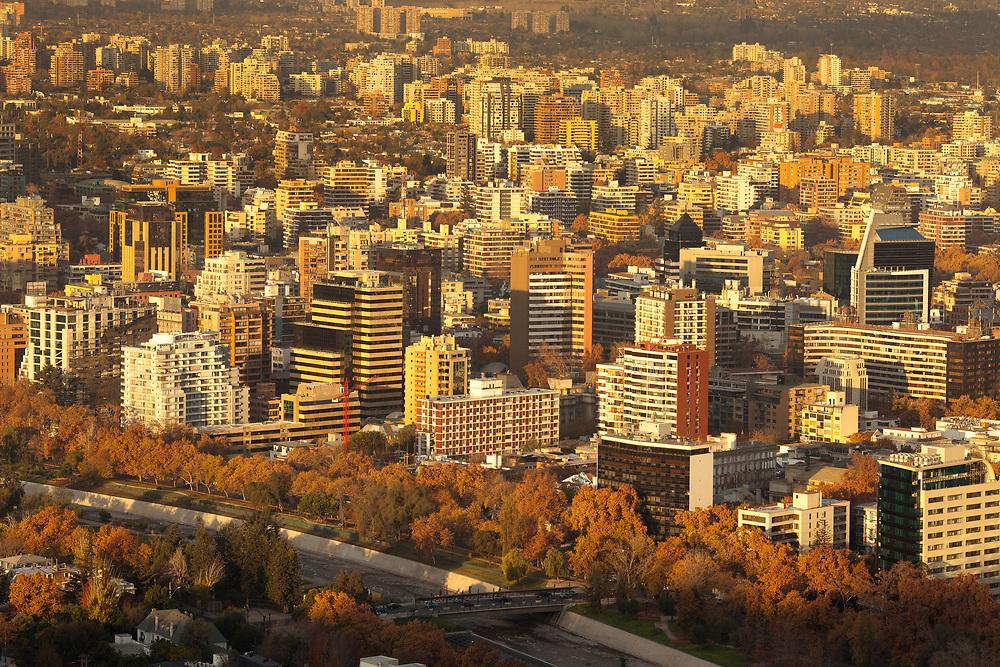 Buildings at Providencia district, Santiago de Chile