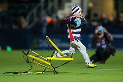 Bristol Rugby fan takes part in the half time games - Rogan Thomson/JMP - 04/11/2016 - RUGBY UNION - Sixways Stadium - Worcester, England - Worcester Warriors v Bristol Rugby - The Anglo Welsh Cup.