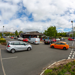 Queues at the Burger King in Springkerse Retail Park, Stirling