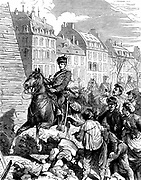Franco-Prussian War 1870-1871: Occupation of Paris - the first German in Paris, February 1871. Wood engraving c1880