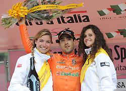 22-05-2011 WIELRENNEN: GIRO D ITALIA: VAL DI FASSA<br /> der Etappensieger Mikel Nieve Team Euskatel Euskadi<br /> *** NETHERLANDS ONLY***<br /> ©2011-FotoHoogendoorn.nl/EXPA/R.Eisenbauer