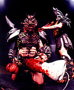 Gwar performing in their trademark costumes, UK 2000's