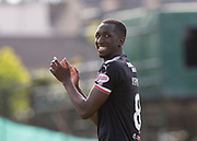 12th May 2018, Dens Park, Dundee, Scotland; Scottish Premier League football, Dundee versus Partick Thistle; Glen Kamara of Dundee applauds the fans at the end