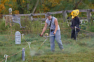 Mount Hope, New York - Farm animals at Pierson's Farm on Oct. 4. 2014.