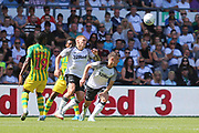 Derby County forward Martyn Waghorn (9) and Derby County midfielder Jason Knight (38) during the EFL Sky Bet Championship match between Derby County and West Bromwich Albion at the Pride Park, Derby, England on 24 August 2019.