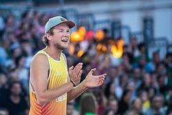 Florian Ertl of Austria at Beach Volleyball Challenge Ljubljana 2019, on August 4, 2019 in Kongresni trg, Ljubljana, Slovenia. Photo by Grega Valancic / Sportida