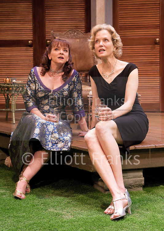 Volcano<br /> by Noel Coward<br /> at the Vaudeville Theatre, London, Great Britain <br /> press photocall<br /> 15th August 2012<br /> directed by Roy Marsden<br /> <br /> <br /> Jenny Seagrove<br /> Dawn Steele<br /> Jason Durr<br /> Finty Williams<br /> Robin Sebastian<br /> <br /> Photograph by Elliott Franks