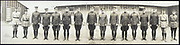 World War I Panoramas <br /> <br /> These long panoramic photographs show U. S. military personnel and camps, patriotic parades, and European battlefields and cemeteries related to WWI.<br /> <br /> PHOTO SHOWS: Division commander, 84th Division, Maj. General Hale, with division staff and attached French officers, Camp Zachary Taylor, Ky., November 21, 1917<br /> ©Library of Congress/Exclusivepix Media