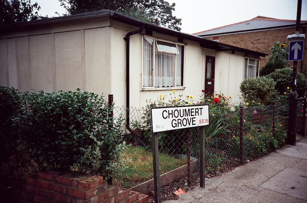 Post-war prefabs in Peckham, Nunhead, Dulwich, South London in 2002 and 2003