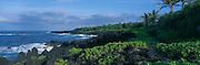 Wainapanapa, Black Sand Beach, Hana Coast, Maui, Hawaii<br />