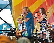 Robert Plant and the Band of Joy perform at the New Orleans Jazz and Heritage Festival in New Orleans, Louisiana, April 29, 2011.