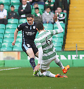 Dundee's Stephen McGinn and Celtic's Nir Biton -  Celtic v Dundee - SPFL Premiership at Celtic Park<br /> <br /> <br />  - © David Young - www.davidyoungphoto.co.uk - email: davidyoungphoto@gmail.com