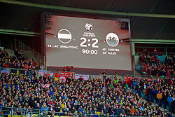 VIENNA, AUSTRIA - Thursday, October 6, 2016: Austria's scoreboard records the 2-2 draw with Wales during the 2018 FIFA World Cup Qualifying Group D match at the Ernst-Happel-Stadion. (Pic by David Rawcliffe/Propaganda)