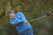 CAPE TOWN, SOUTH AFRICA - Wednesday 8 March 2016, Will Porter tees off on the 2nd during the 1st Round of the Curro SA Juniors International at the Durbanville Golf Club. <br /> Photo by Shaun Roy/ImageSA
