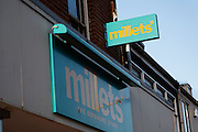 Millets. High street shops and shopping,  January 2009, Lowestoft, Suffolk, England
