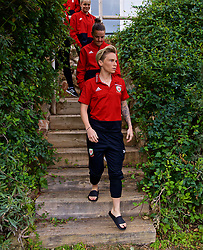 ALHAURÍN EL GRANDE, SPAIN - TUESDAY, MARCH 5, 2019: Wales' Jessica Fishlock during a pre-match team walk at the at Alhaurin Golf Resort in Spain. (Pic by David Rawcliffe/Propaganda)