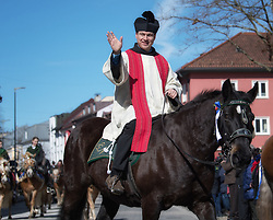 02.04.2018, Traunstein, GER, Georgi Ritt Traunstein 2018, im Bild Geistlicher // during the traditionell Georgi Ritt on Easter Monday in. in Traunstein, Germany on 2018/04/02. EXPA Pictures © 2018, PhotoCredit: EXPA/ Erst Wukits